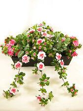 60cm Wide Mixed Artificial Silk Greenery Plant Pink Azalea Flowers Display