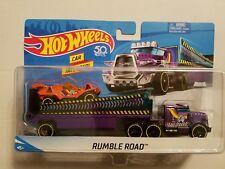 Mattel 50 years Hot Wheels RUMBLE ROAD City Rig Truck & Trailer & Car 2017