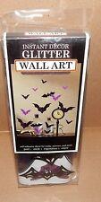 "Halloween Dimensional Wall Art 5ea Bats Purple 27 x10"" Peel Stick Reposition 71L"