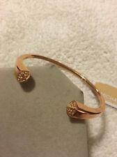 Michael Kors Rose Gold Brilliance Glitz Pyramid Bangle Bracelet NEW