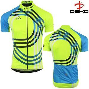 Cycling Jersey Men Short Sleeve Summer Bicycle Full Zipper MTB Racing Top Yellow