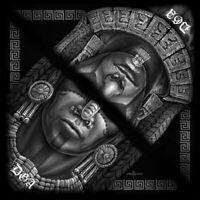 DGA Day of the Dead Chicano Warrior Maya/Mexica Large Bandana/Scarf/Headband