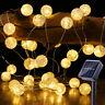 Solar Power Outdoor LED Festoon Fairy Lights  Flamingo Firefly Bulb Garden Decor