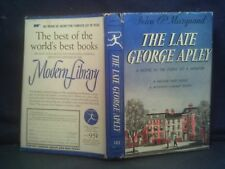 THE LATE GEORGE APLEY, Marquand,  Modern Library #182, Hardcover/Dust Jacket