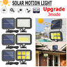 100/120 LED COB Solar Power Sensor Motion Light Garden Flood Security Wall Lamps