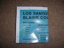 GTA GRAND THEFT AUTO 5 V LOS SANTOS XBOX ONE 1 PLAYSTATION 4 PS4 - MAP ONLY
