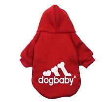 Hundebekleidung Hundeshirt Pullover Hoodie Chihuahua Yorky Kleinhund Dogbaby Rot