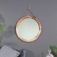 Espejos decorativos marrones redondos para el hogar
