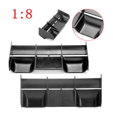 Rear Wing Black Plastic For 1:8 Buggy RC Drift Car Off Road Truck Accessories US