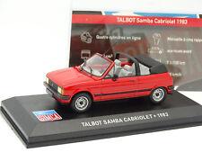 Ixo Presse 1/43 - Talbot Samba Cabriolet 1983 Rouge