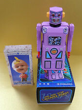 MASUDAYA MINI NON STOP LAVENDER ROBOT WIND UP MADE IN JAPAN Unused