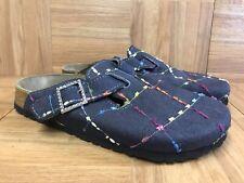 Nice🔥 Birkenstock Papillio Boston Closed Toe Slide 37 L6 M4 Navy Stitched Sewn