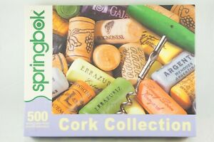 "Springbok 500 Piece Jigsaw Puzzle ""Cork Collection"" Wine 2010 Made in USA"