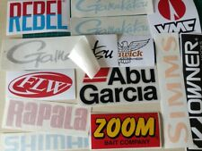 Lot of (13) Fishing Decals Fishing Stickers for Brand Lovers