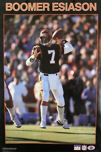 Vintage 34 x 22 BOOMER ESIASON 1987 Cincinnati Bengals NFL Starline Poster RARE