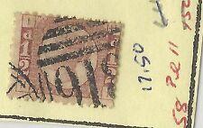 1870 Great Britian Queen Victoria Sc. #58 PL.#11 Used Cat. $17.50 (X2806)
