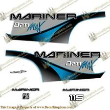 Mariner 115hp Optimax - 2000 (Blue) Outboard Decals 3M Marine Grade