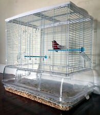 No Mess! Transparent Clear Canaries Parakeet Cockatiel LoveBird Aviary Bird Cage