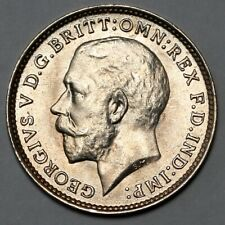 1917 KING GEORGE V GREAT BRITAIN SILVER THREEPENCE THREE PENCE 3D COIN