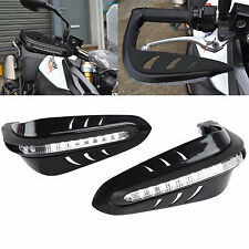 "Black Universal 7/8"" Motorcycle Handle bars LED Handguards Hand Guards Protector"