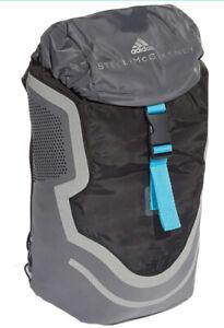 adidas by Stella McCartney Running Cycling Backpack Run Gray Silver Neoprene New