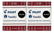 Pilot Namiki Fountain Pen Ink Cartridge - Black - New - N69100- 24 CARTRIDGES!!!