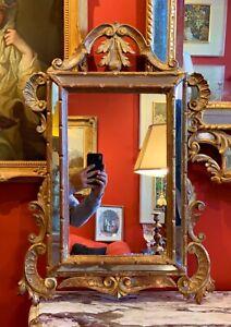 Early 20th Century Italian Giltwood Mirror