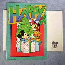 Disney Happy Holidays Mickey Minnie Christmas Cards with Envelopes Lot of 4