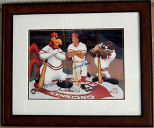 ART PRINT ~ JOHNNY BENCH ~ LOONEY TUNES ~ SERIOLITHOGRAPH ~ AUTOGRAPHED
