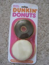 SCENTED REALISTIC FAKE PLAY FOOD PROP ●MTC RUBBER DUNKIN DONUTS 1987 RARE ● NEW