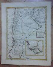 CHILE ARGENTINA 1785 ANTONIO ZATTA UNUSUAL LARGE ANTIQUE MAP 18TH CENTURY