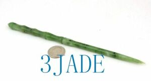 Hand Carved Green Nephrite Jade Magic Wand Wizard Witch Crystal Stone Wands