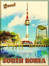 Seoul South Korea Korean Asia Asian City Travel Advertisement Art Poster Print