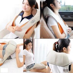 Electric Shiatsu Kneading Neck Massager Shoulder Back Body Pain Massage Pillow