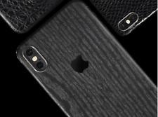 iPhone Black Wood Rear Vinyl Skin Sticker Skin Wrap Cover Case Samsung Huawei