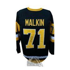 Evgeni Malkin Autographed Penguins Custom Black Hockey Jersey - BAS COA (B)