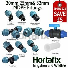 MDPE Compression fittings: all types, 20/25/32mm - From stock
