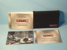 01 2001 GMC Sierra owners manual with Diesel