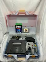 Nintendo 64 N64 Console Carry Case Soft Expansion Pack Set Tested Working