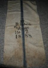 Antique German Linen Grain Feed Sack 1888 No. 9