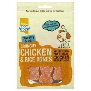 GoodBoy Pawsley Crunchy Chicken & Rice Bones Dog Treat 100g