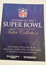 NFL History of the SUPER BOWL officially Licensed Ticket Collection
