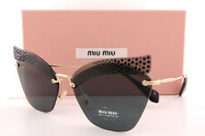 Brand New Miu Miu Sunglasses MU 56TS XEJ 1A1 Pale Gold/Gray Women