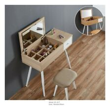 Scandinavian Nordic Style Dressing Table Set W/ Mirror Stool Vanity Desk Console