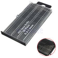 20Pc 0.3mm-1.6mm HSS Mini Micro Twist Precision Drill Bit Set Craft Tool+Case TW