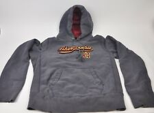 ABERCROMBIE & FITCH Heavy Hooded Sweatshirt Hoodie Medium Distressed #2