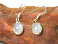 Oval MOONSTONE  Sterling  Silver  925  Gemstone  EARRINGS  -  Gift  Boxed!