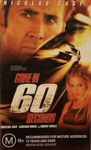 Gone In 60 Seconds VHS Nicholas Cage Angelina Jolie 2000