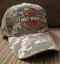 Bikers Camouflage Baseball Cap Adjustable  Camo Hat Hog Rider