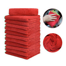 12PC Microfiber Towels Elite Deluxe Car Wash Polish House Cleaning Cloths 16x24""